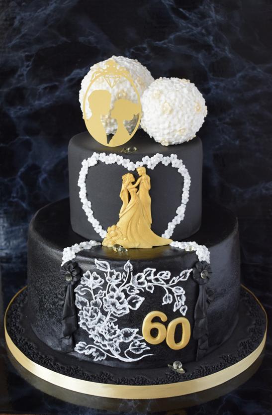 Diamantene Hochzeit Tortenbilder Kuchenfotos Mycakestuff