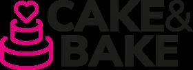 Neues Logo  Cake&Bake ab 2021 - schwarzer Schriftzug mit rosa Torte